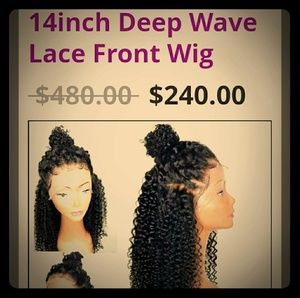 Other - 14 inch deep wave lace wig 100% human hair